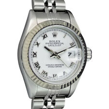 ROLEX Ladies 18kt Gold & Stainless DateJust White Roman Dial 79174 SANT BLANC