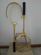 Vintage set of 2 Wood Wright & Ditson Prize Cup Badminton Rackets with Press USA