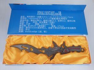 """FINAL FANTASY VIII LIGHTNING BRAIDS EDGE REPLICA SWORD 12"""" JAPAN RARE"""
