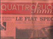 QUATTRORUOTE JUNIOR FIAT 125 124 SPECIAL 1100 500 RALLYES 1968 ANNO II N 1