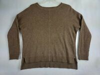 Vince Womens Long Sleeve Pull Over Sweater Wool / Yak Blend Brown X-small