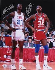 DOMINIQUE WILKINS, MAGIC JOHNSON Signed 11x14 Photo Autographed Picture AUTO COA