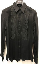 Paul Smith MAINLINE Black Linen Shirt SIZE MSlim Fit15.5 EU39 Made in Italy