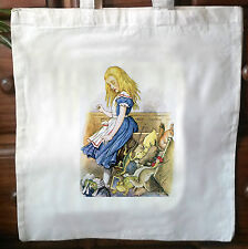 Alice In Wonderland eco friendly Cotton vintage Tote Bag Shopper Bag 04