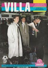 Aston Villa Middlesbrough. Zenith Data Systems V Copa área final 1989/90. como Nuevo