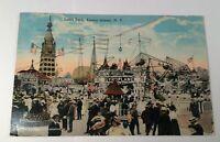 Antique Postcard 1917 Luna Park Gyroplane, Coney Island,N.Y. Postmarked PC