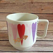 2016 Starbucks Valentine's DayHearts Ceramic Coffee Tea Mug Cup 12 Fl Oz