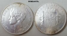 FILIPINAS 1 PESO - 5 pesetas Plata Alfonso XIII, año 1897 ceca MANILA. 25,02 gr.