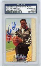 Walter Payton 1991 Proline Portraits Autographed Auto Card - PSA/DNA