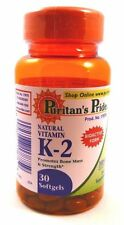 Vitamin  K K-2 Mena Q7 50 mcg 30 Softgels Bone Health Blood Clotting