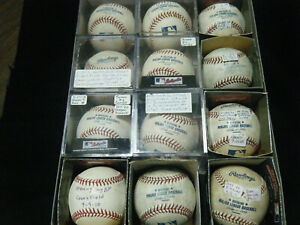 12 Rawlings MLB 10 actual game used baseballs Coors Field 2 BP