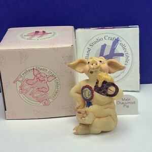 Holland studio craft collectible pig figurine pigtails sculpture Male Chauvinist
