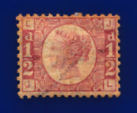 1870 SG49 ½d Rose Plate 5 G4 JL Mounted Mint Hinged Cat £110 csts