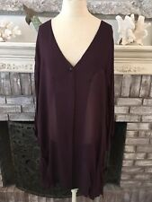 Tienda Ho One Size Burgandy Wine Boho Tunic Jacket Pockets Classic  EUC