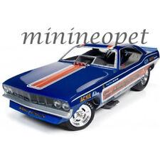 AUTOWORLD AW1176 1971 PLYMOUTH CUDA WHIPPLE & McCULLOUGH FUNNY CAR 1/18 BLUE