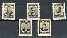 NEDERLAND 1937 ca  5 x  FOTO STAMPS KNVB VOETBAL STAINS  THICK PAPER NO GUM