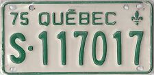 CANADA 1975 QUEBEC SNOW MOBILE LICENSE PLATE.