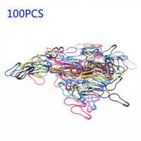 100 New Needle Clip Knitting Craft Stitch Crochet Tool Metal Markers Locking-DIY