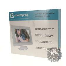 "NEW PhotoSpring PS101-32 10"" WiFi Digital HD Photo Frame + Album - White"
