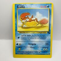 MISCUT ERROR MISPRINT KRABBY Fossil 51/62 Pokemon Card