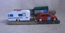 Beetle+Caravan New no Box B/O R/C GREECE PAPPAS BROS AP GREEK VINTAGE RED Nr 930