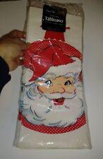 """Vintage Christmas Paper Art Paper Tablecloth Santa Ornament NIP 54"""" x 102"""""""