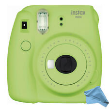 Fujifilm instax mini 9 Instant Film Lime Green Camera with Cleaning Cloth