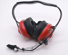 Noise Cancelling Pilot Headset for Motorola GP340 GP328 GP380 MiNi DIN plug RED