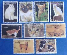 SAO TOME E PRINCIPE Africa 1995 CTO Cats Felines Pets 516