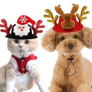 Pet Cat Clothes Puppy Christmas Sweater Santa Claus Costumes Hat Coat Dog Winter