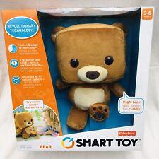 NEW Fisher-Price Smart Toy Talking Learning Interactive Plush Stuffed Bear NIB