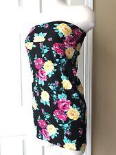 Lularoe Cassie Skirt RARE roses Vintage Hot Pink Black XS tunic Mini Dress