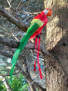 Fake Artificial Bird Parrot Realistic Imitation Home Garden Decor 50cm Costume