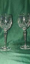 waterford crystal  - 2 wine goblets. Vintage Estate find. No chips, no cracks.