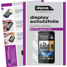6x HTC Desire 516 Schutzfolie klar Displayschutzfolie Folie dipos Displayfolie