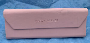 Warby Parker Eye Glasses Case Only Pink Sunglasses Case Magnetic Folds Flat