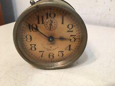 Rare Antique Ansonia Flash Alarm Clock With Unusual Dial
