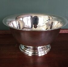 "SILVERPLATE BOWL  8"" diameter x 4.5"" tall TOWLE Serving Dish Centerpiece"