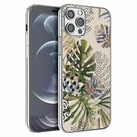 For Apple iPhone 12 Mini Silicone Case Nature Leafs Art Print - S6922