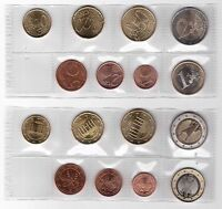 GERMANY - FIRST ISSUE 8 DIF UNC COINS FULL SET: 1 CENT - 2 EURO 2002 YEAR