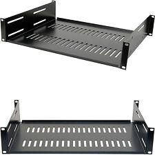 19� 2U Vented Equipment Support Shelf-Data Cabinet Rack Module Storage Mount Amp