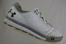 UNDER ARMOUR Tempo Hybrid White Sz 10 Men SPikeless Golf Shoes