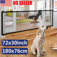 Retractable Safe Gate Pet Dog Cat Barrier Net Guard Fence Enclosure Room Divider