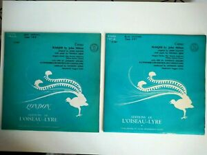 Comus MASQUE John Milton St Anthony Singles L'Oiseau Lyre Orchestral 2 x Vinyl