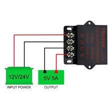 DC-DC Step Down Converter 12V/ 24V to 5V 5A Transformer Power Regulator Module