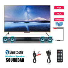 Bluetooth Wireless Soundbar Home Theater Sound Bar 4* Subwoofer TV RCA Speaker
