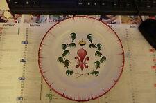 assiette en faïence les islettes fleur de lys surmonté d'une couronne XIX° siècl