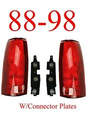 88 98 Chevy Tail Light Set w/Connector Plates L&R, Truck, GMC, 99, 00 Tahoe NIB!