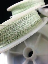 (1) White & Light Green Genuine Irish Linen Single Pool Billiard Cue Wrap Spool