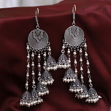 Indian Bollywood oxidized Earring Jumka Jumki Traditional Silver Plated Jewelry